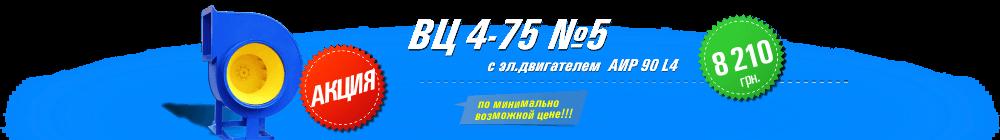 ВЦ 4-75 №5 с эл.двигателем АИР 90 L4 2,2 кВт 1500 об./мин
